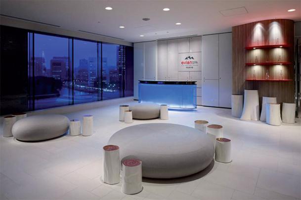 L'evianSpa du Palace Hôtel de Tokyo, qui mêle le savoir-faire français aux traditions japonaises, est le premier projet concrétisé par la marque. D'autres suivront - DR : Evian