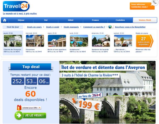 Travel24-Deals.fr est le dernier site lancé par Travel24 France - Capture d'écran