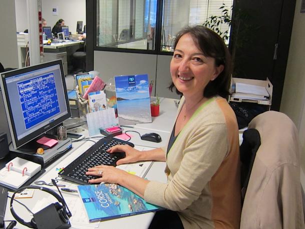 Michèle Paoli, superviseur back office au service individuel chez Ollandini, à Ajaccio. DR