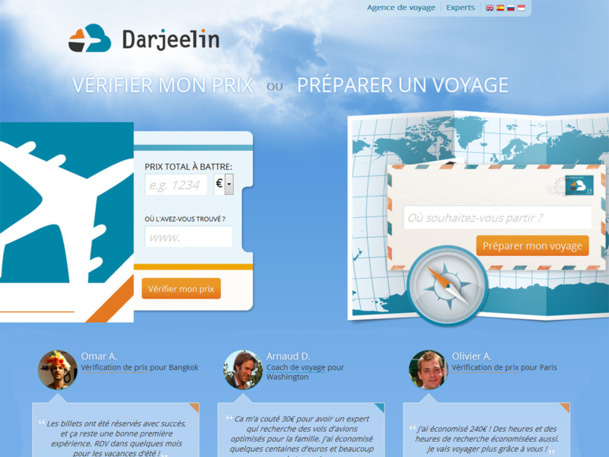 Darjeelin, the human flight comparator wants to seduce travel agencies