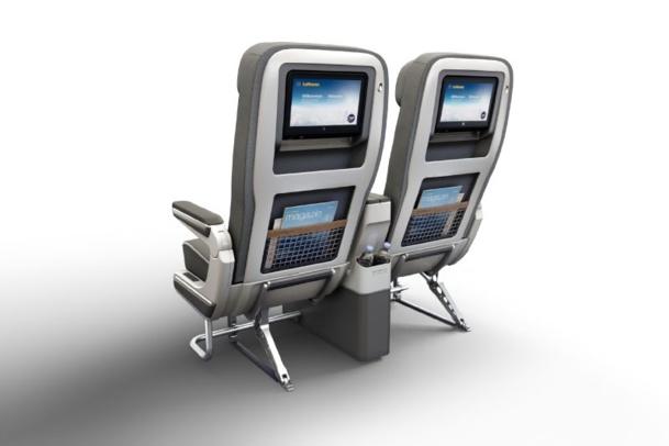 Les passagers disposent d'environ 50% de place supplémentaire qu'en Economy Class - © Photographer: Lufthansa - © CGI: Pixomondo