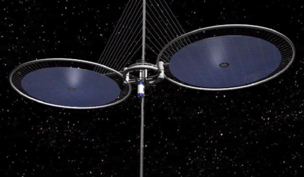 L'ascenseur spatial pourrait voir le jour en 2050 - DR : CNES
