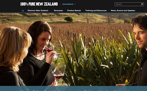 Le nouveau site de Tourisme New Zealand est destiné à devenir la principale source d'informations pour les professionnels du tourisme - Capture d'écran