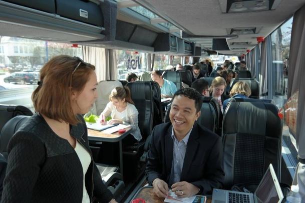 Brive la Gaillarde : l'autocar du TourMaG & Co Road Show a affiché complet !!! - Photo FdL