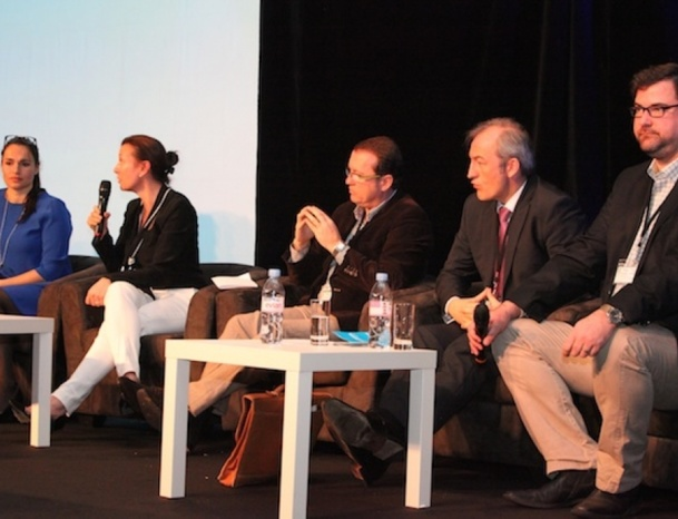 Alexandra Blanchard (TripAdvisor), Anne-Catherine Pechinot (Gîtes de France), Eric Huet (Logis Hôtels), Christophe Mathieu (Brittany Ferries), Thomas Yung (Artiref) - ©Miguel Duvivier