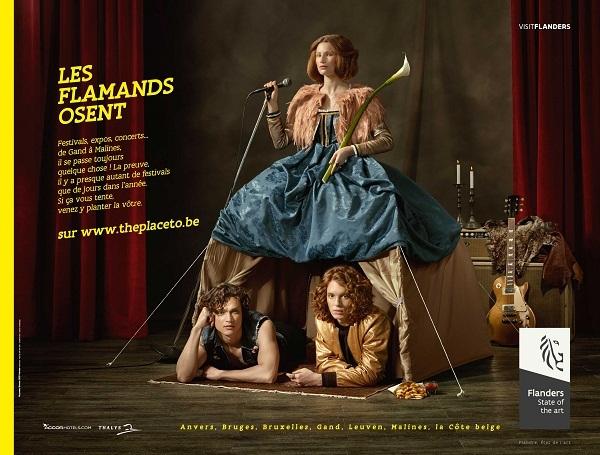 Visit Flanders a fait appel à l'agence Nouveau Monde DDB Nantes pour la conception des visuels de sa campagne de communication - DR
