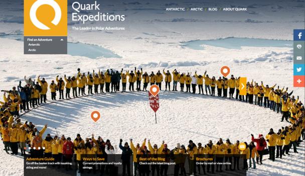Spécialisé sur les croisières polaires, Quark Expéditions veut améliorer sa notoriété sur le marché français.