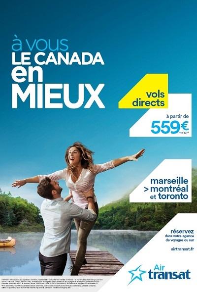 Le visuel de la nouvelle campagne d'Air Transt est affiché à Bordeaux, Lyon, Marseille, Mulhouse, Nantes, Nice et Toulouse - DR