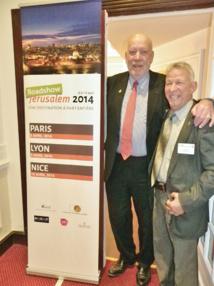 Gaël de la Porte du Theil, président d'Interface Tourism France (gauche) avec Eli Nahmias (droite), directeur du tourisme de la ville de Jérusalem, en déplacement à Nice - DR : M.B.