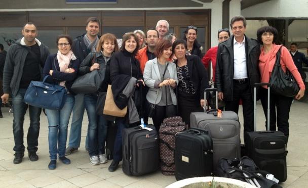 Les participants à l'éductour organisé du 27 au 30 mars à Tunis, Hammamet et Monastir. /photo dr