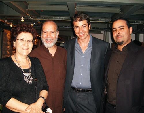 Autour de César Saint-Ouen, Fetia Knani, directrice de l'ONTT pour la France, le peintre Rachid Koraïchi et Abdelmajid Jazi, directeur commercial TunisAir