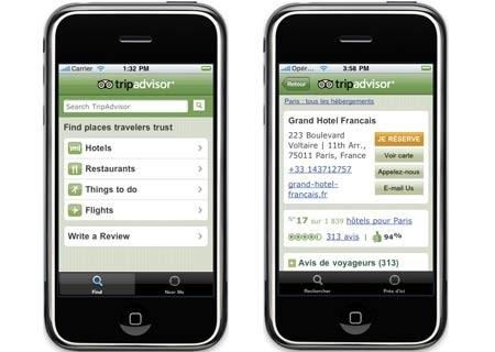 Avec plus de 100 millions de téléchargements, TripAdvisor arrive en tête d'affiche des applications mobiles.