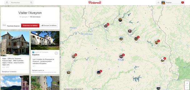 Exemple du tableau de Tourisme Aveyron « Visiter l'Aveyron »