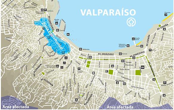 Valparaiso : l'incendie ne menace pas les zones touristiques