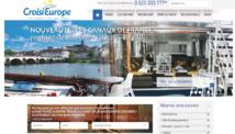 La nouvelle interface de CroisiEurope, plus claire, pour séduire les clients américains. DR