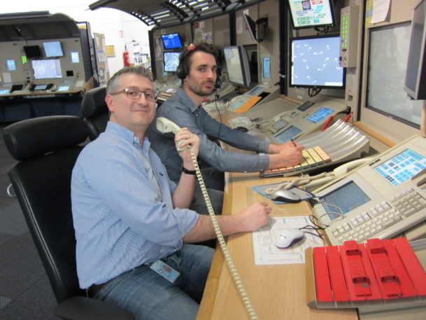 Kevin Sheehan and one of his colleagues at their desks - Photo LAC