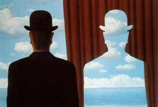 JP Mas et Lucien Salemi, blanc bonnet et Bonnet blanc ? Illustration: René Magritte, Décalcomania.