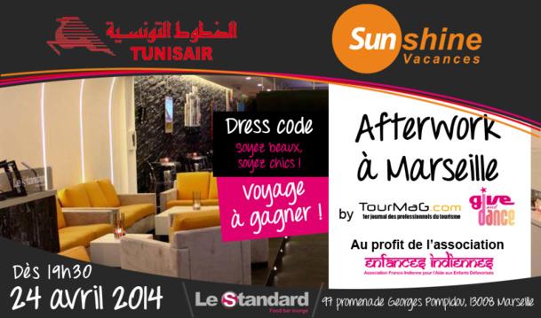 Afterwork humanitaire à Marseille : Tunisair et Sunshine Vacances font gagner un voyage en Tunisie !