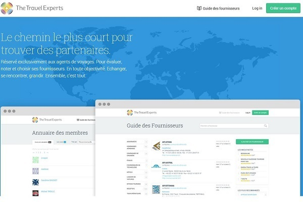 TheTravelexperts.fr is a platform that brings together the two main families of the tourism industry: producers such as tour operators, car rental, airlines... and distributors such as travel agencies.