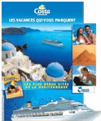 Costa Croisières distribue son kit vitrine