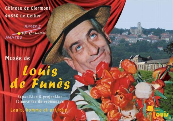 A l'intérieur de l'orangerie du château, les visiteurs pourront notamment retrouver le chapeau noir de Rabbi Jacob, les baguettes cassées par le chef d'orchestre Stanislas Lefort dans La Grande Vadrouille - DR