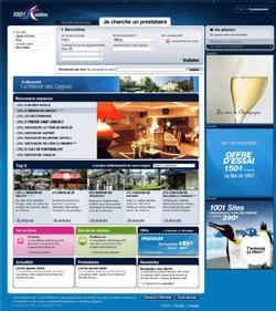 Page d'accueil de l'espace professionnel