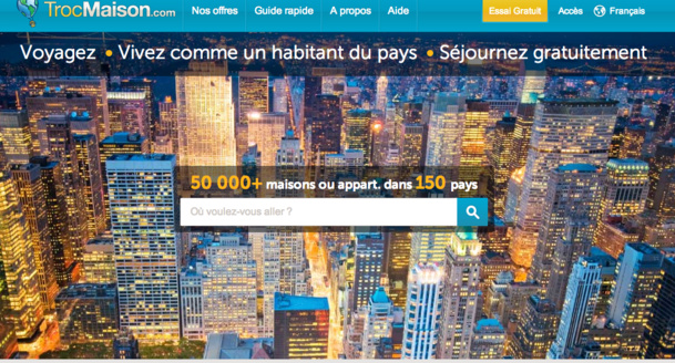 Le site Troc Maison possède 54 000 membres dans près de 147 pays. DR site Troc Maison.
