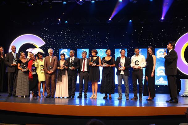 Les Lauréats de la Mer 2014 ont récompensé une vingtaine d'agences de voyages, dont 10 agences antillaises - DR : L.T.