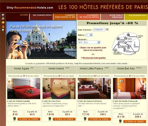 FastBooking lancement d'Only-Recommended-Hotels.com