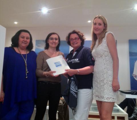 Anne Pujadas (Agence Jet Tours à Pertuis) la gagnante de la croisière entourée de Laura Sanchez, Béatrice Frantz-Clavier (Star Clippers) et Magali Bertrand (Havanatour) - DR
