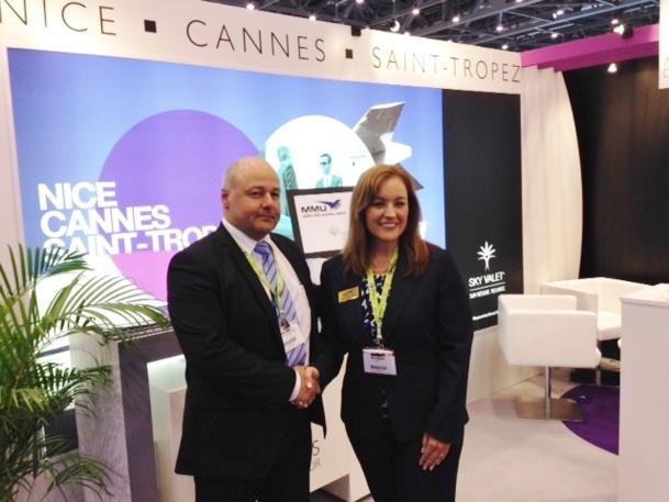 Michel Tohane, directeur de l'Aviation Générale à Nice et Maria Sheridan, directrice du développement de l'Aéroport de Morristown - DR
