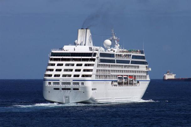 Il y a quelques jours, l'Insignia faisait une escale inaugurale, avec à son bord 700 passagers et 400 membres d'équipage - DR