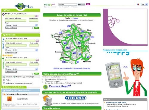 Auto Escape sur Mappy.com