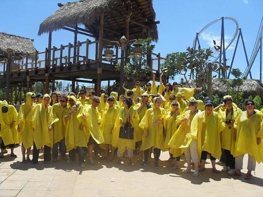 Les participants on pu découvrir la nouvelle attraction de Port Aventura sur le thème des temples d'Angkor - Photo DR