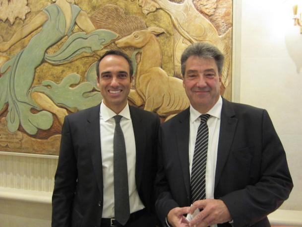 Jean Dionnet d'Univairmer avec David Amsellem, le président de John Paul, vient de s'associer pour lancer un service de conciergerie. Photo LAC
