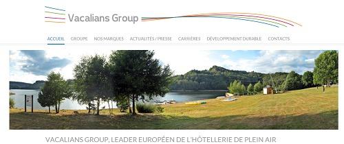Le nouveau site de Vacalians Group s'adapte aux écrans des smartphones et des tablettes - Capture d'écran
