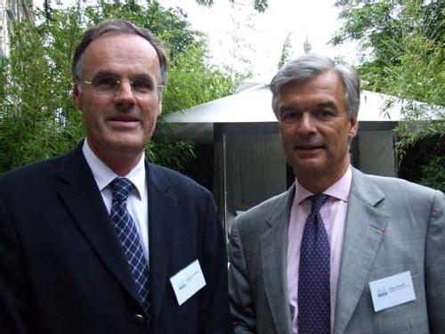 Christophe de Balorre, président du CDT de l'Orne, et Philippe Toussaint, président du Septembre Musical