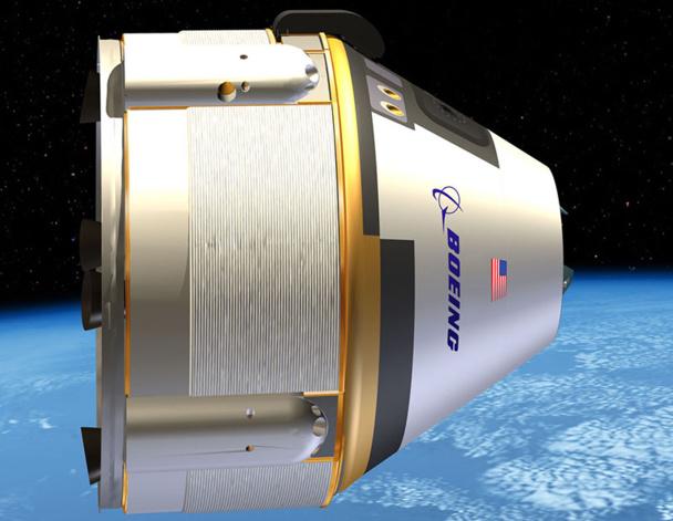 Boeing a dévoilé le concept de la cabine de son futur avion spatial conçu pour des vols commerciaux, version remaniée de celle développée pour la capsule CST-100 - DR : Boeing image