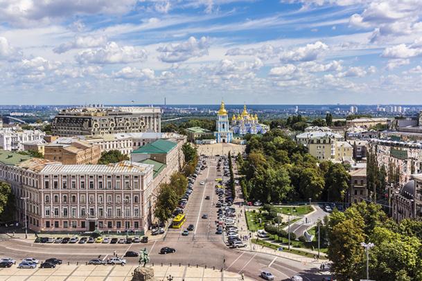 Panorama depuis la tour de la Cathédrale Sainte-Sophie à Kiev - © dbrnjhrj - Fotolia.com