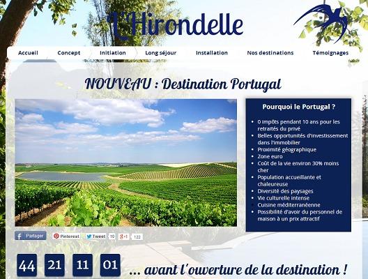 L'Hirondelle appel à un financement participatif pour l'ouverture d'une nouvelle destination : le Portugal - Capture d'écran