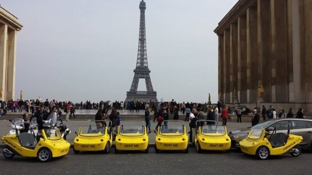 CanariCar, a new way of visiting Paris - DR