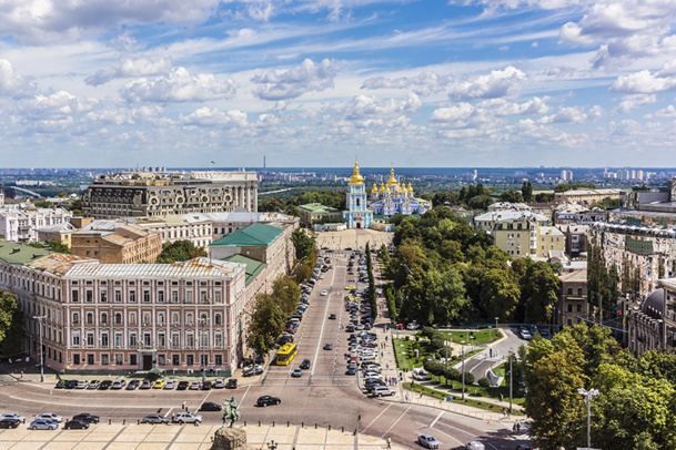 Panorama from the tower of Saint Sophia Cathedral in Kiev - © dbrnjhrj - Fotolia.com