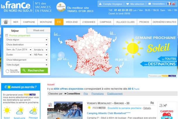 La France du Nord au Sud met en ligne un moteur de recherches basé sur la météo