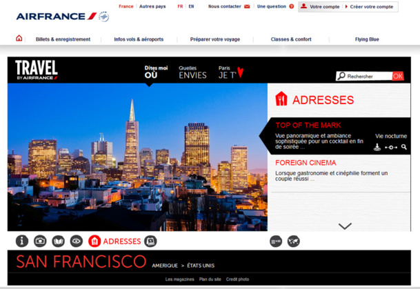 Air France lance un City guide en ligne