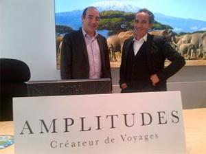 Bernard Molle, directeur commercial de Sabre France, et José Martinez, PDG d'Amplitudes
