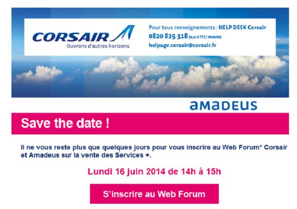 72 agents de voyages ont assisté au Web Forum de Corsair et Amadeus sur les services additionnels - DR