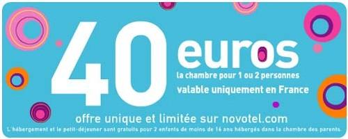 Novotel : 4 000 chambres à 40 euros pendant 40 jours