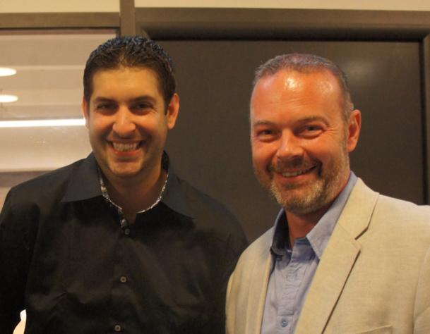 Raphaël Torro Directeur de SpeedMedia et Yannick Faucon, Directeur général de Resaneo lors de l'inauguration des locaux - Photo CE