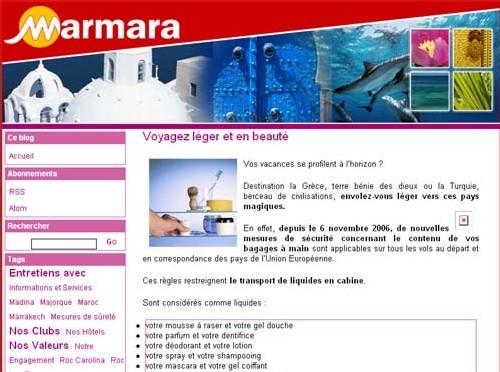 Marmara se met au blog !