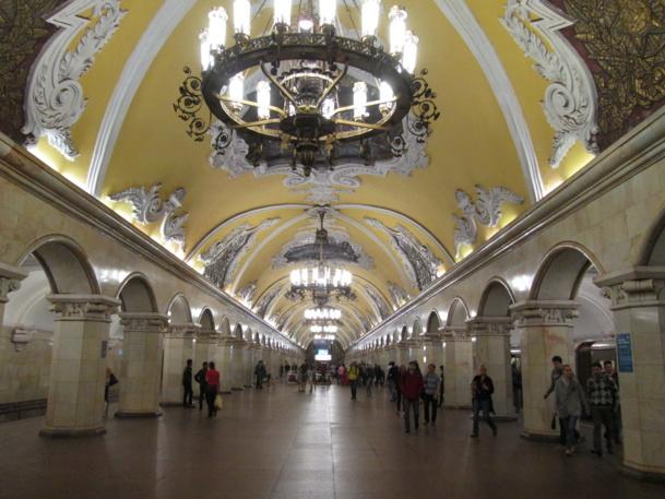 Une station  du métro moscovite - DR : M.S.